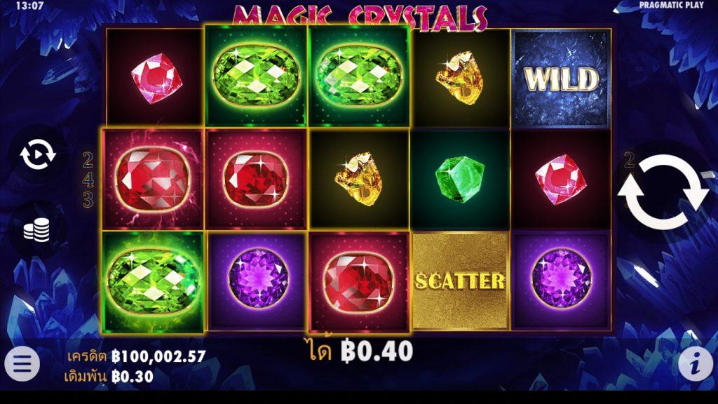 รีวิวเกมสล็อต PP : Magic Crystals คริสตัลเวทมนต์