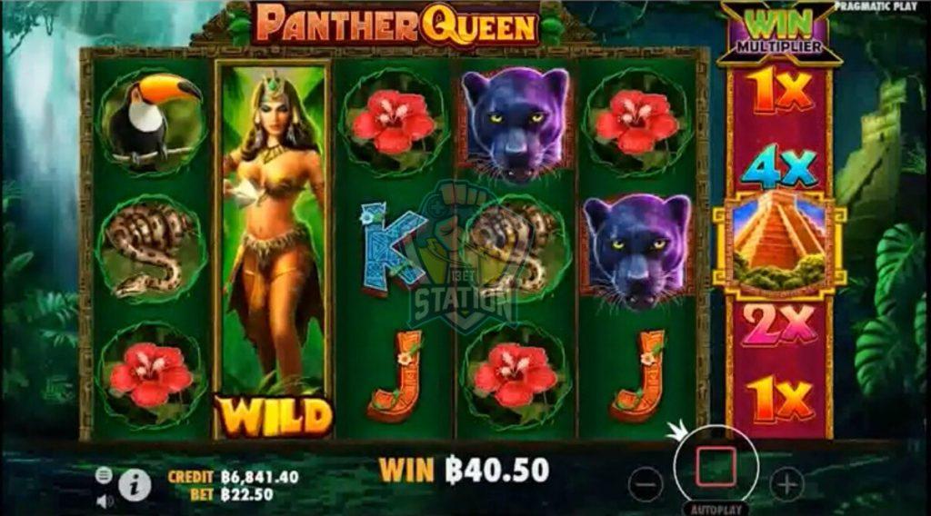 รีวิวเกมสล็อต PP : Panther Queen ราชินีเสือดำ