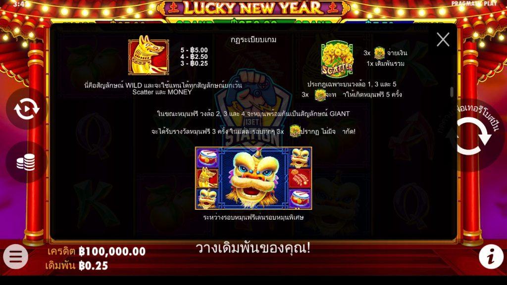 รีวิวเกมสล็อต PP : Lucky New Year โชคดีปีใหม่